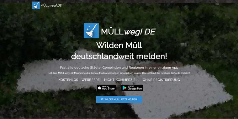 Wilden Müll melden Müllweg! DE