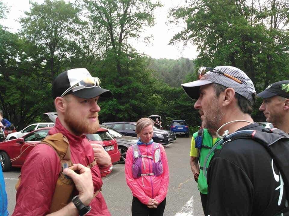 Sascha und Thomas vor dem Start des Westerwaldlaufes 2018