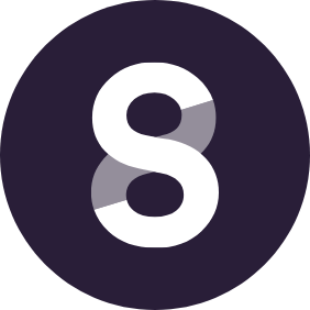 steady icon white in purple