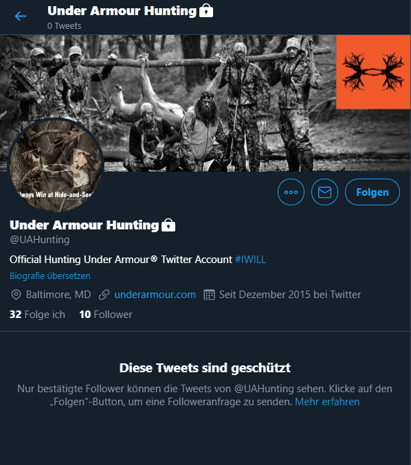 Under Armout Hunting Unit